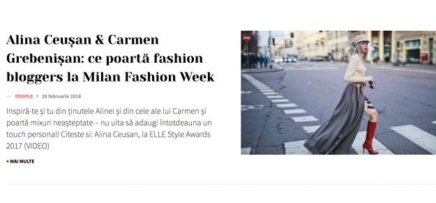FEATURED IN ELLE MAGAZINE / OUTFITS FROM #MilanFashionWeek